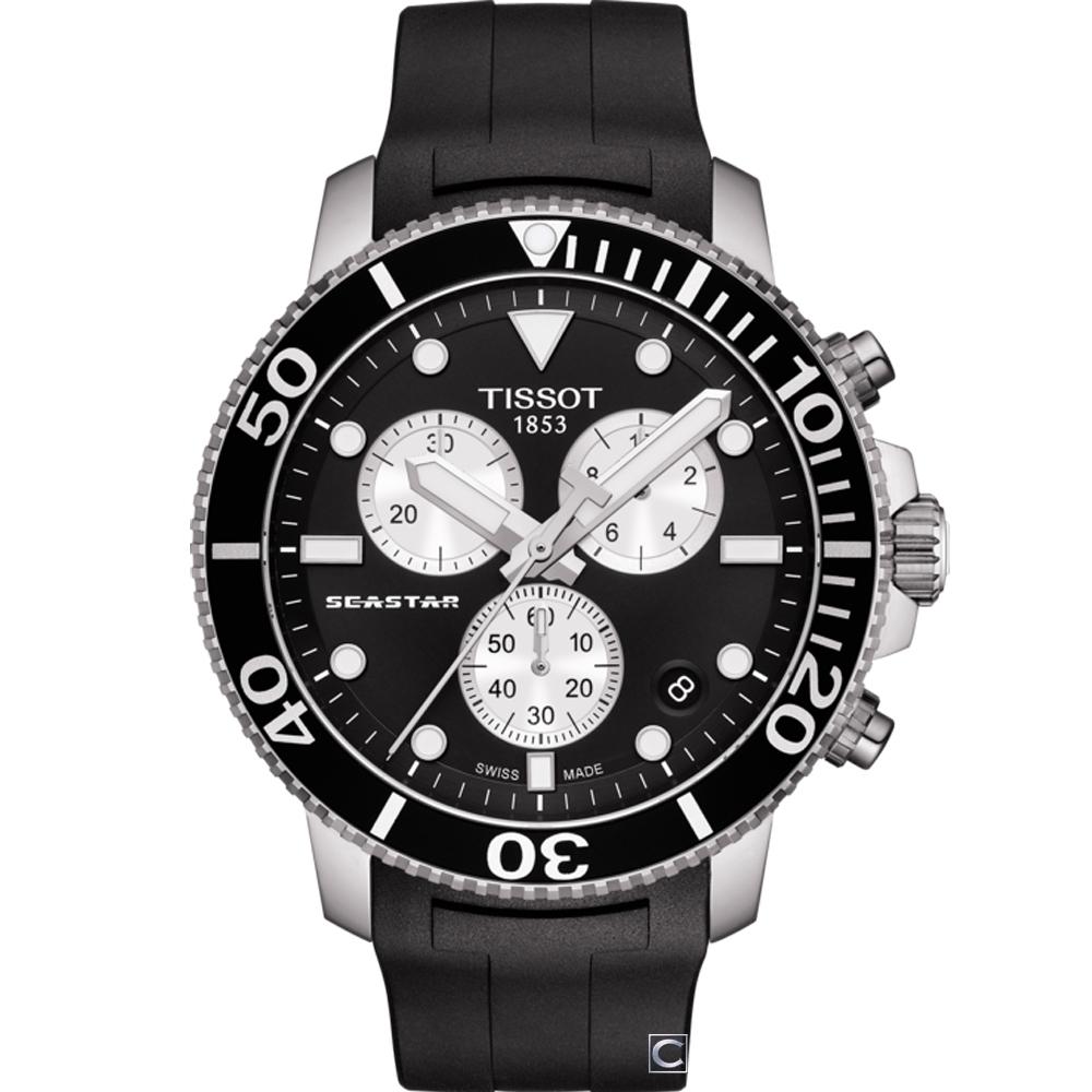 TISSOT天梭SEASTAR海星計時潛水錶(T1204171705100)