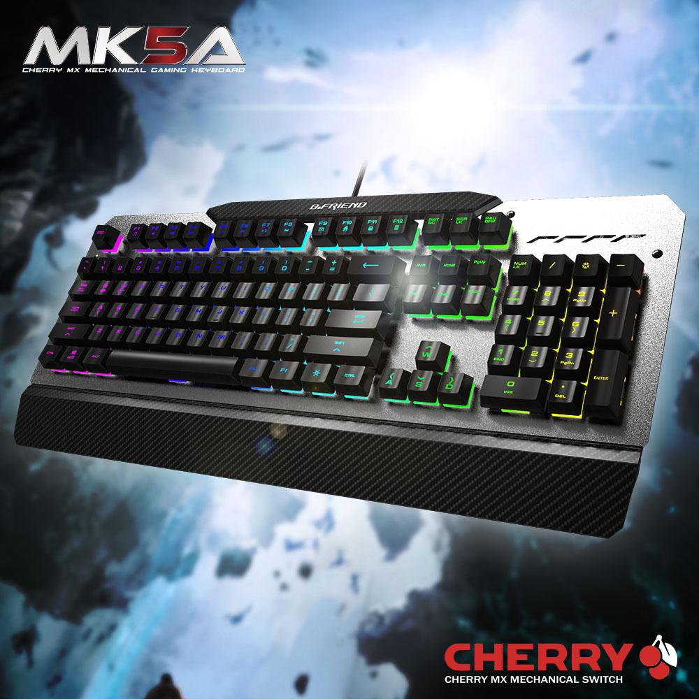 B.Friend MK5A Cheery茶軸RGB發光遊戲鍵盤