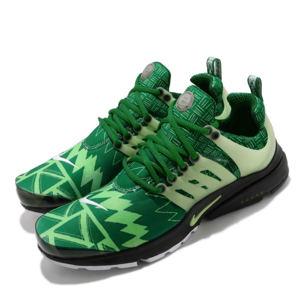 Nike 休閒鞋 Air Presto 運動 男女鞋 經典款 魚骨鞋 襪套 情侶穿搭 綠 黑 CJ1229300