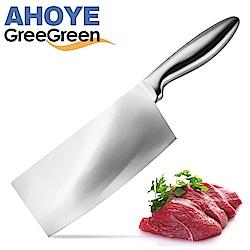 GREEGREEN 不鏽鋼柄中式菜刀 18cm