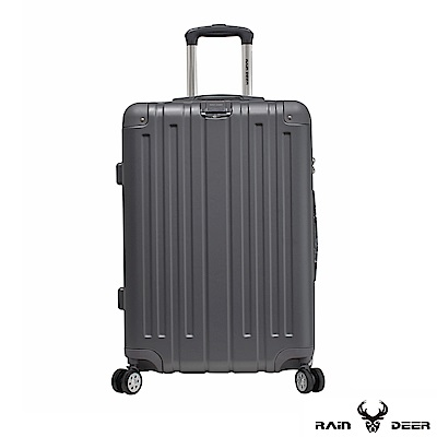 RAIN DEER 米克斯20吋ABS鑽石紋防刮行李箱-鐵灰色