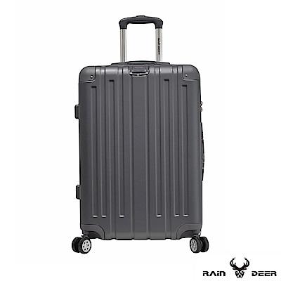RAIN DEER 克萊爾28吋ABS鑽石紋防刮行李箱-鐵灰色