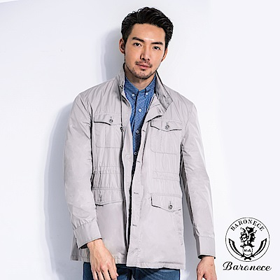 BARONECE型男中長版夾克外套(330651-31)