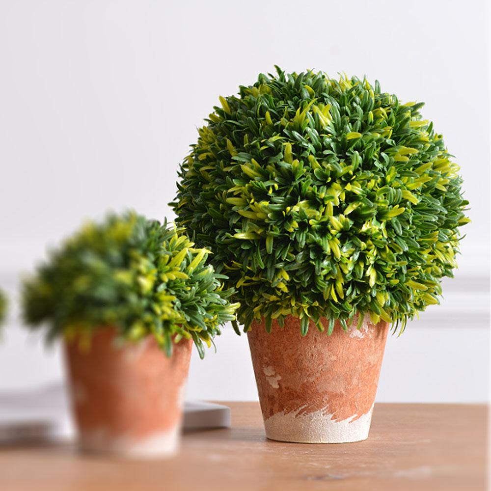 Meric Garden  Zakka風格高仿真植物景觀盆栽(綠半球L)