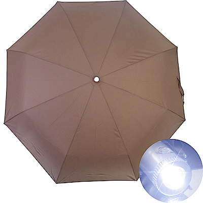 wepon LED燈三折自動開收傘-咖啡