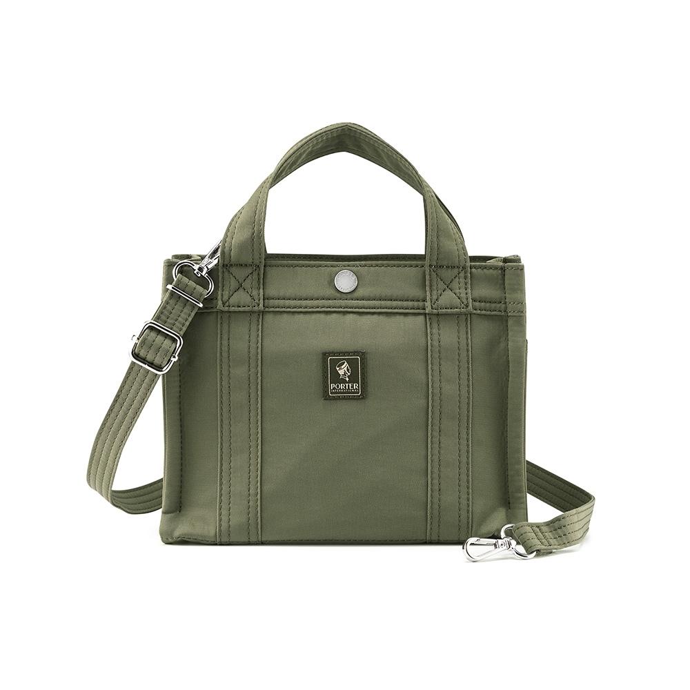 PORTER - 質樸優雅PAWN方形簡約小包 - 橄欖綠