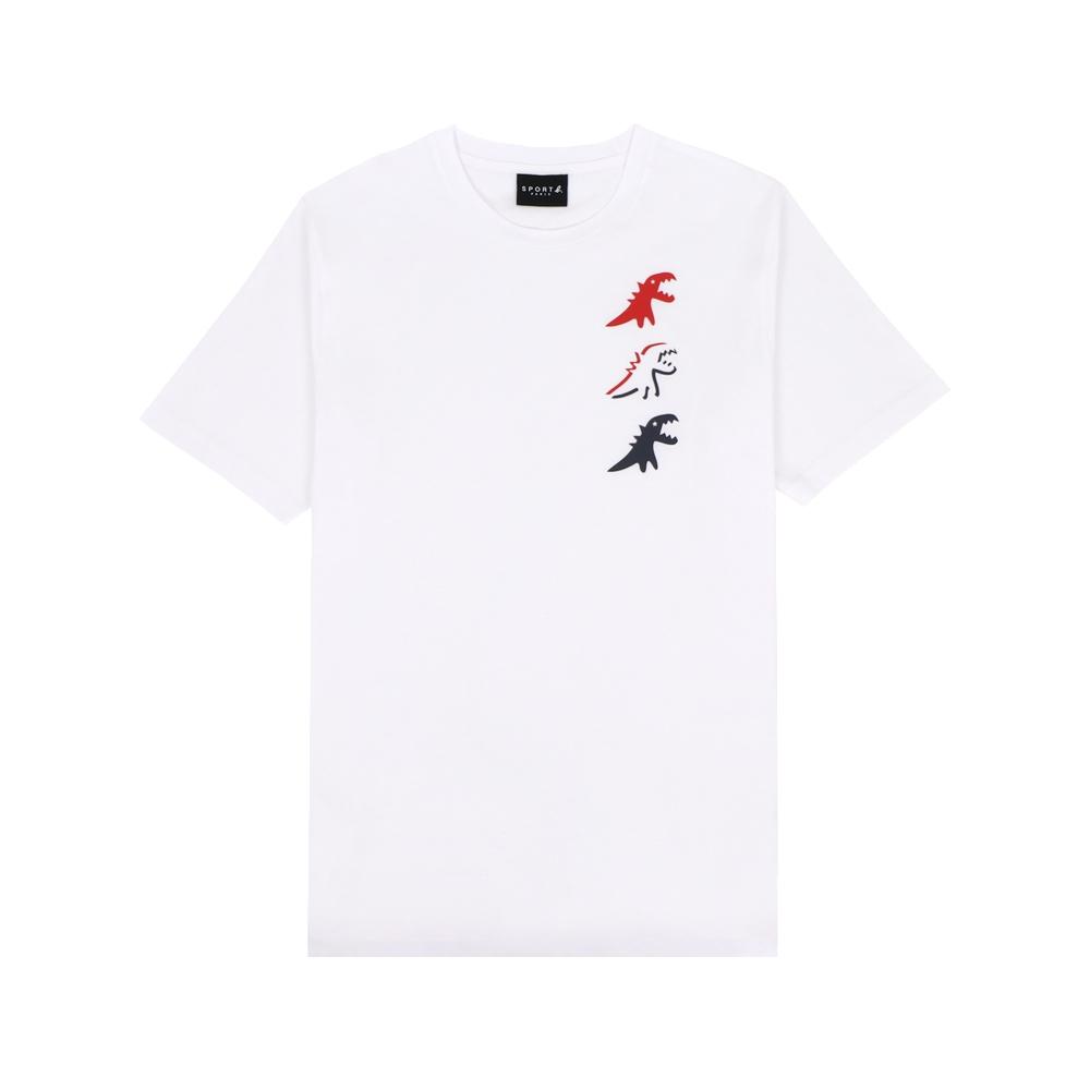 agnes b. - Sport b. 恐龍印花圓領短袖上衣(男)(白)
