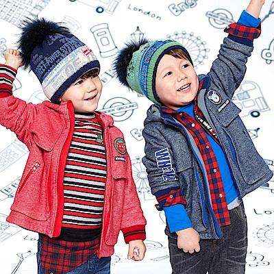 WHY AND 1/2 mini帽子可拆棉質外套-內裡搖粒布1Y~4Y多色可選