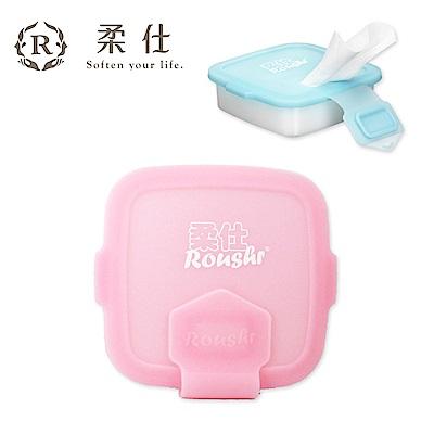 【Roaze 柔仕】專利矽膠抽取盒 + 乾濕兩用布巾(20片) - 佩佩粉