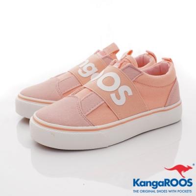 KangaROOS VISTA 帆布趣味童鞋-01323粉紅(中大童段)
