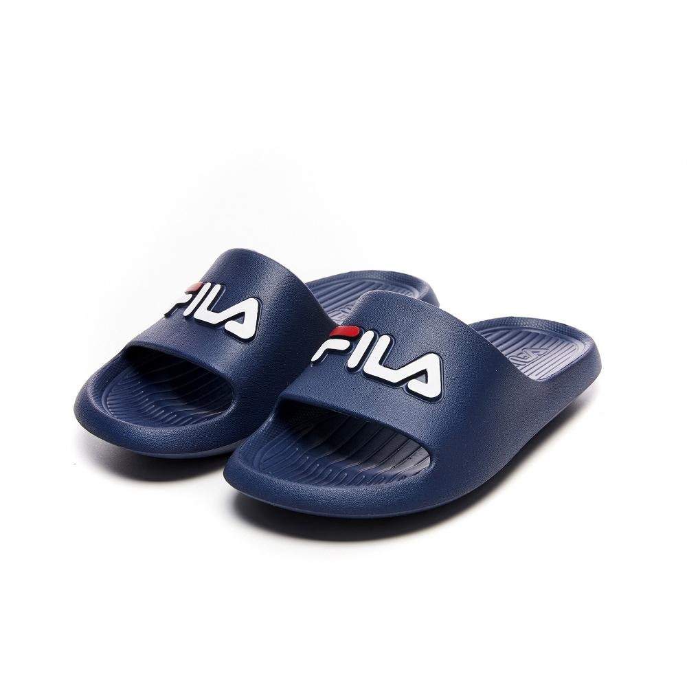 FILA KIDS 中童運動拖鞋-藍 2-S837V-331