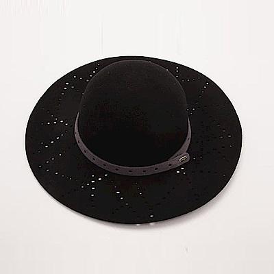 ELLE法式浪漫優雅羊毛毛呢帽_黑