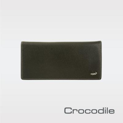 Crocodile 自然摔紋真皮長夾 0203-11071/0203-11072