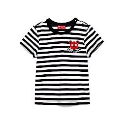 WHY AND 1/2 條紋棉質萊卡T恤-親子裝爸爸