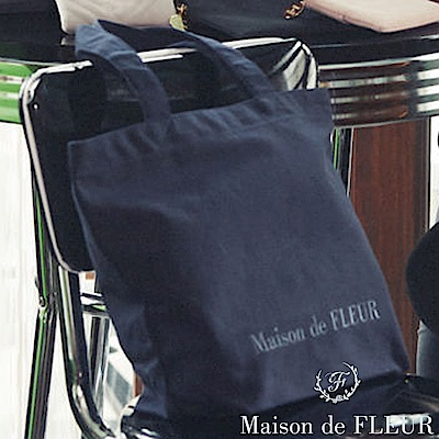 Maison de FLEUR 簡約LOGO打印托特包