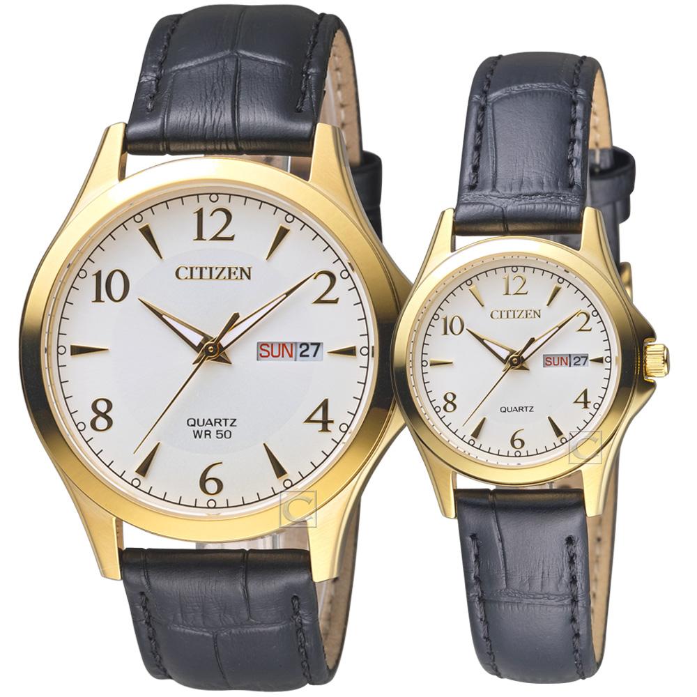 CITIZEN 經典雅痞時尚對錶/42+28mm @ Y!購物