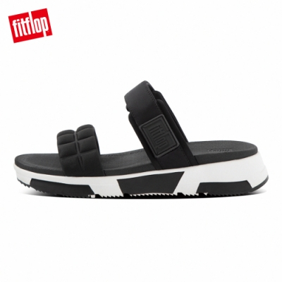 FitFlop HAYLIE QUILTED CUBE SLIDES運動風雙帶涼鞋-女(黑色)