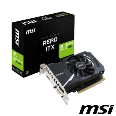 MSI微星 GeForce GT 1030 AERO 2G OC 顯示卡