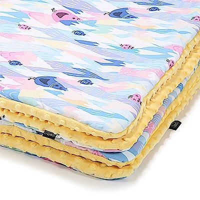 嬰兒毯寶寶毯-La Millou 暖膚豆豆毯-莓果咕咕雞(清恬芒果黃)