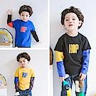 小衣衫童裝   男童嘻哈風拼色長袖T恤1061003