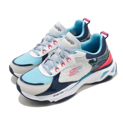 Skechers 休閒鞋 Energy Racer 增高 老爹鞋 女鞋 異材質拼接 止滑 耐用 穿搭 白 藍 149372WBLP