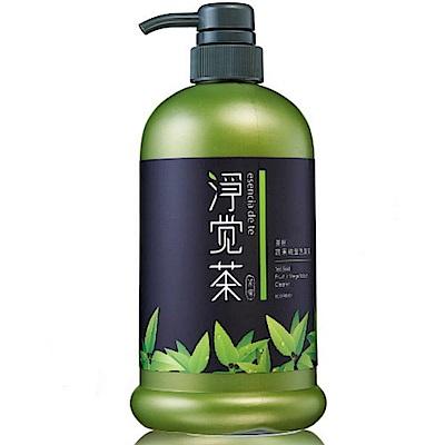 茶寶 淨覺茶 茶籽蔬果碗盤洗潔液800mlx1瓶+補充包700mlx6包