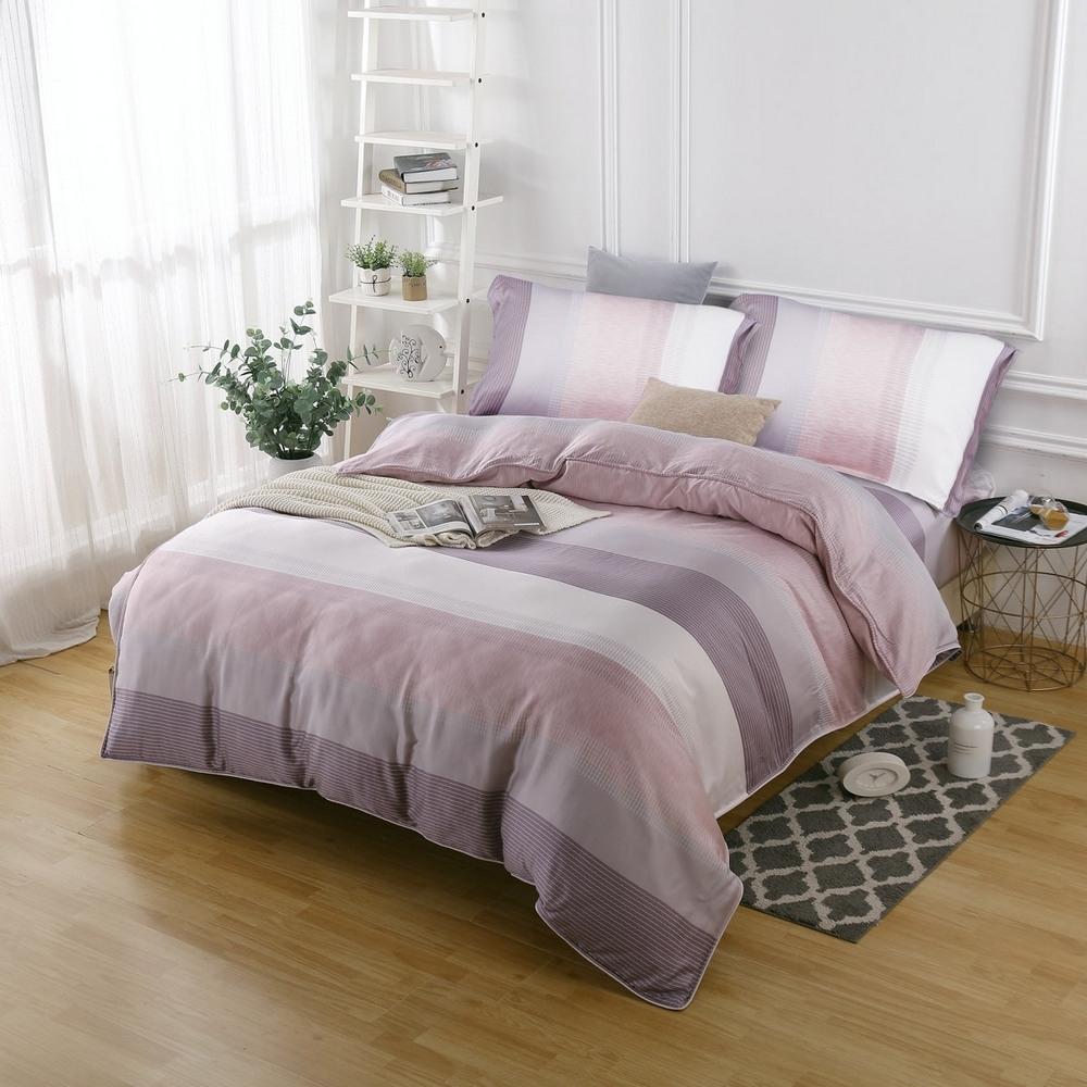 夢工場時尚雅緻40支紗萊賽爾天絲四件式兩用被床包組-加大