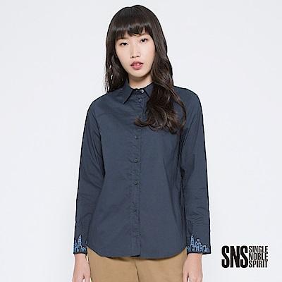 SNS 俯視曼哈頓城市輪廓刺繡襯衫(2色)