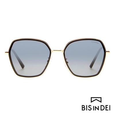 BIS IN DEI 金屬多角形框太陽眼鏡-黑