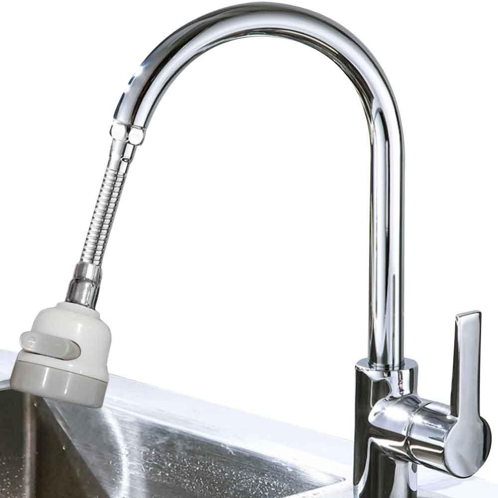 (升級加長型硬管)一鍵三段可固定可調方向省水增壓水龍頭 花灑頭