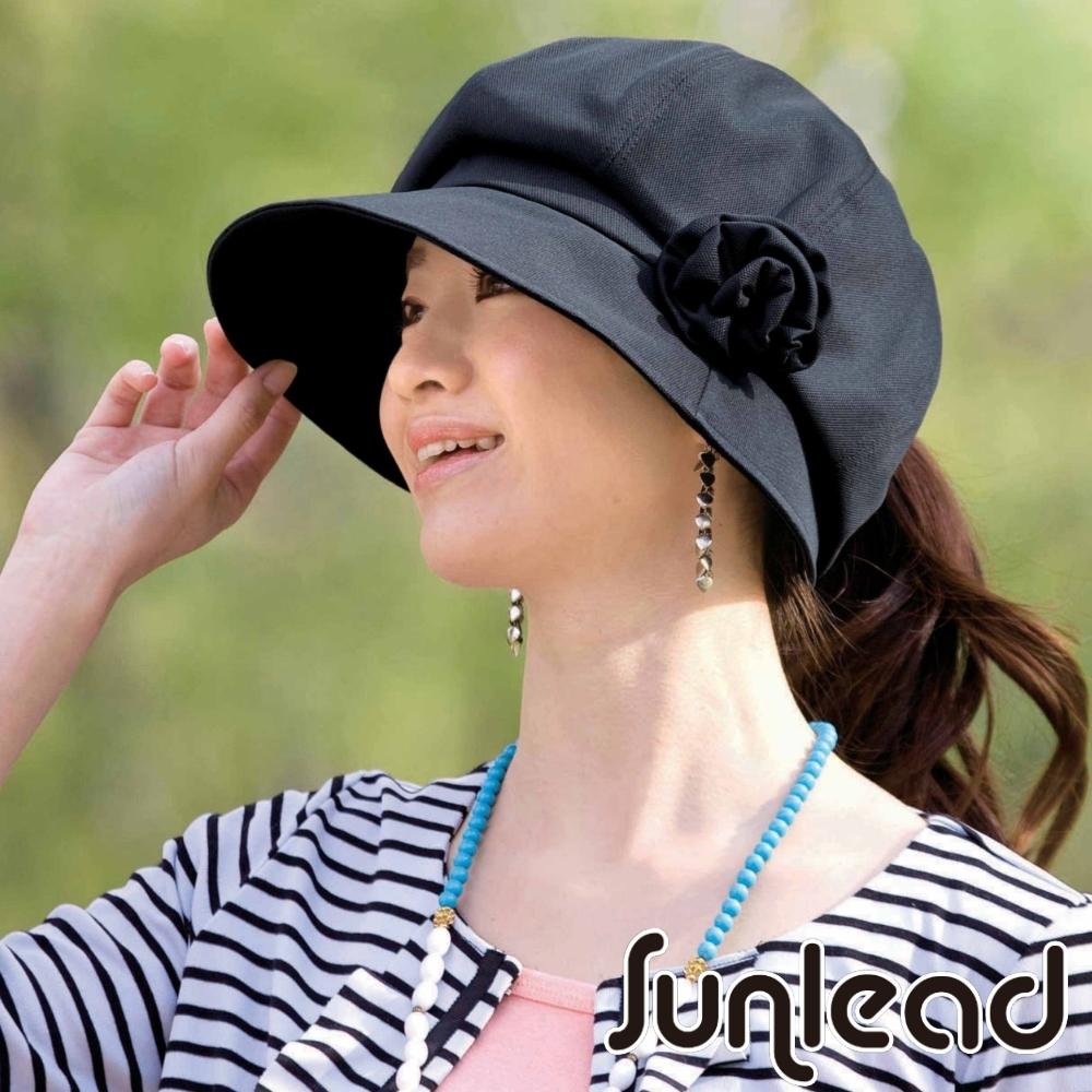Sunlead 小顏效果。馬尾護髮美型抗UV防曬遮陽帽
