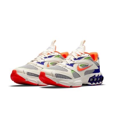 Nike 休閒鞋 Zoom Air Fire 運動 女鞋 氣墊 避震 復古風格 球鞋 穿搭 米白 橘 CW3876-100