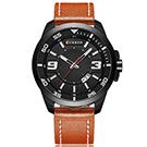 CURREN 卡瑞恩8213-完美時光數字三針日曆手錶 (2色任選)