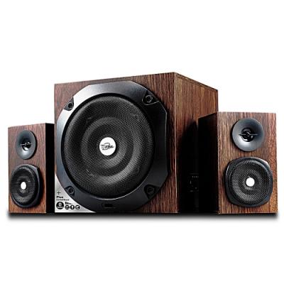 福利品 TCSTAR 木質紋多功能插卡/USB/藍牙2.1多媒體喇叭 TCS3560