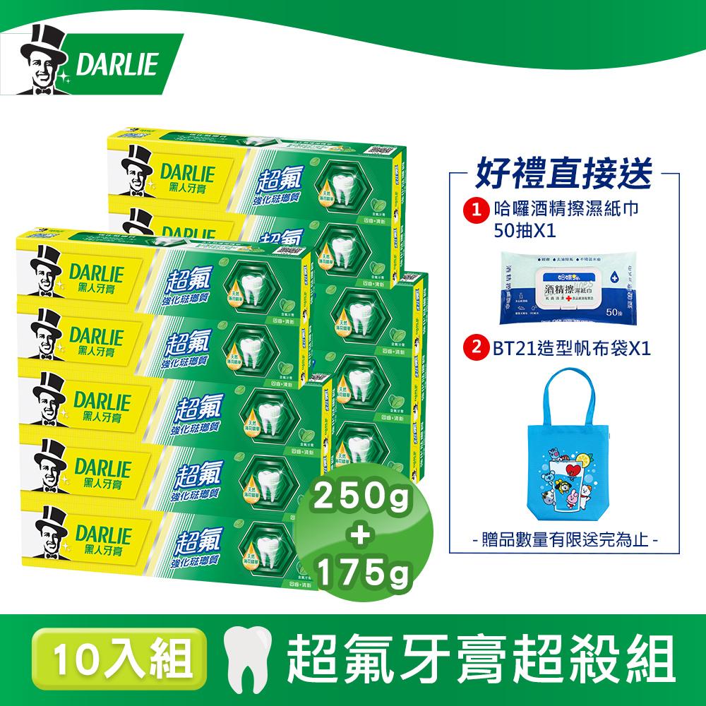 黑人 超氟牙膏10入超值好康組(250g 6入+ 175g 4入)