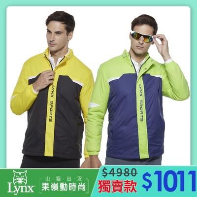 【Lynx Golf】獨家!男女果嶺防護保暖鋪棉外套-二色