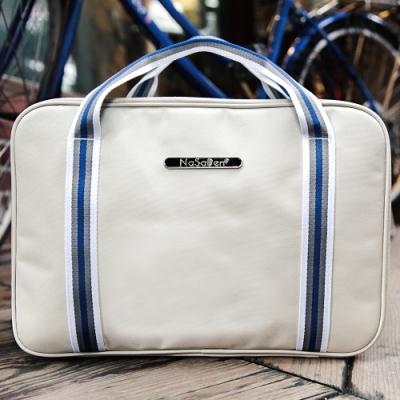 【NaSaDen】雪佛包 肩背/手提/穿套行李箱 相當一個16吋的行李箱(典雅杏)