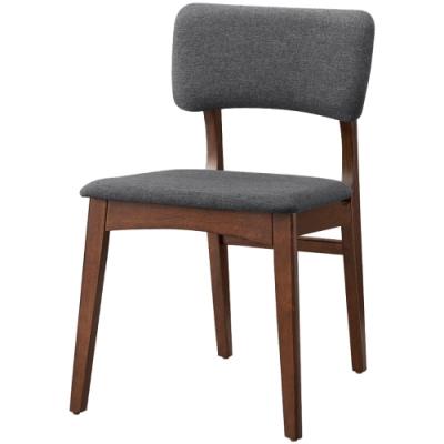 文創集 貝多北歐風棉麻布實木餐椅2入組(純粹木語系列)-48x60x79cm免組