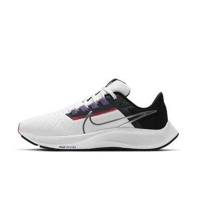 NIKE AIR ZOOM PEGASUS 38 女慢跑鞋-白黑-CW7358101