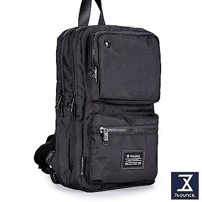 74盎司 Life 雙口袋設計尼龍胸包[G-1000]黑