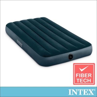 INTEX經典單人加大(fiber-tech)充氣床墊(綠絨)-寬99cm(64107)