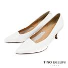 Tino Bellini義大利進口方形鞋口6cmOL跟鞋_白