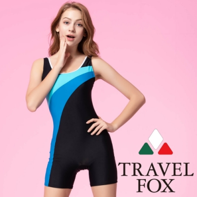 TRAVEL FOX夏之戀 大女連身四角泳衣