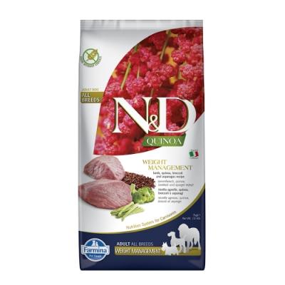 Farmina法米納|天然藜麥無穀機能系列-犬用體重管理-羊肉蘆筍7KG