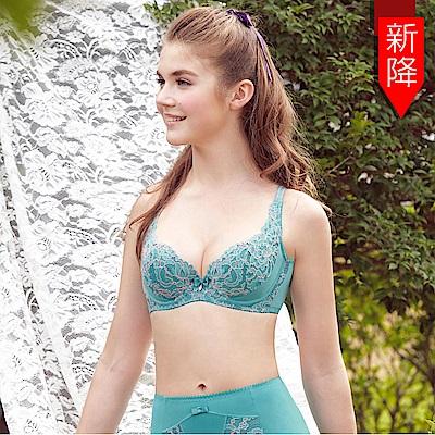 曼黛瑪璉-雙弧絲蛋白  A-C罩杯內衣(海洋藍)