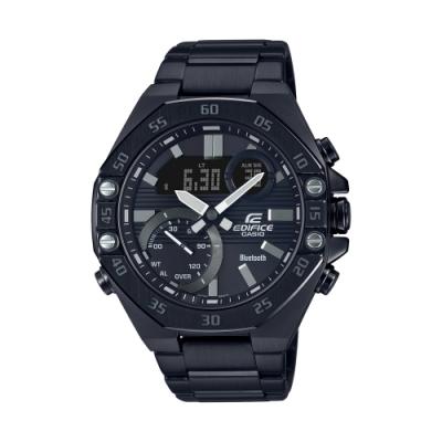 CASIO卡西歐 EDIFICE 藍牙 賽車 八角形錶圈 ECB-10DC-1A_48.5mm