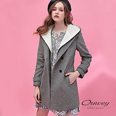 OUWEY歐薇 活動式連帽風衣外套(灰) @ Y!購物