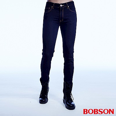 BOBSON 男款超彈力直筒褲