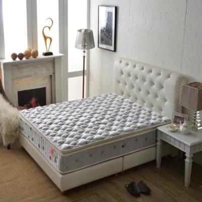 雙人加大6尺 厚三線護腰型-乳膠抗菌+竹碳紗防潑水-蜂巢式獨立筒床墊 Ally愛麗