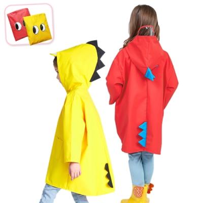 E-dot 小恐龍3D造型兒童雨衣S~XXL(二色)